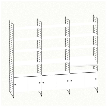 STRING STRING® SYSTEM  WALL CABINET COMBINATION 2
