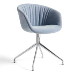 HAY AAC 21 soft swivel chair - aluminium base