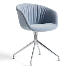 HAY AAC 21 soft swivel stoel - voet aluminium