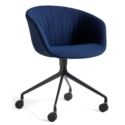HAY AAC 25 SOFT CHAIR UPHOLSTERED - CASTORS