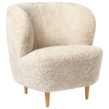 GUBI STAY LOUNGE FAUTEUIL SMALL - HOUTEN VOET