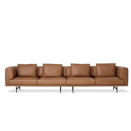 VIPP 632 Chimney 4 seater sofa leather uph.