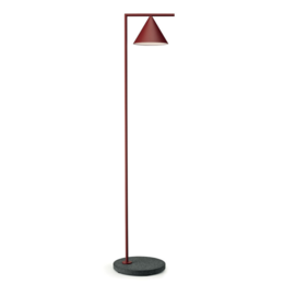 FLOS CAPTAIN FLINT OUTDOOR BURGUNDY - ZWART LAVA