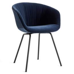 HAY AAC 27 SOFT  CHAIR -  LOLA NAVY - TUBE BASE