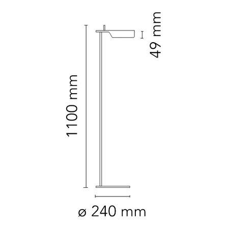 FLOS TAB - T LED FLOOR LAMP