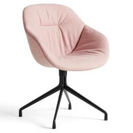 HAY AAC 121 soft stoel - zwart swivel voet