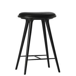 MATER DESIGN HIGH STOOL 69 CM  BLACK BEECH - BLACK LEATHER
