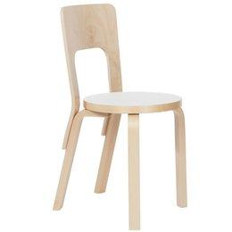 ARTEK AALTO CHAIR 66 WHITE LAMINATE SEAT