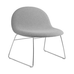 GUBI 3D LOUNGE CHAIR SLED UPHOLSTERED