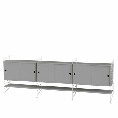 STRING WALL CABINET LARGE GREY