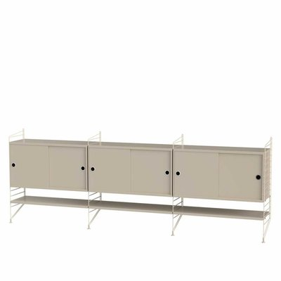 STRING WALL CABINET LARGE BEIGE