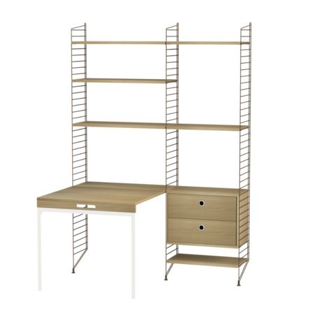 STRING WALL CABINET HIGH - FOLDING TABLE COMBO