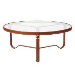 GUBI ADNET COFFEE TABLE BROWN - Ø 100 CM
