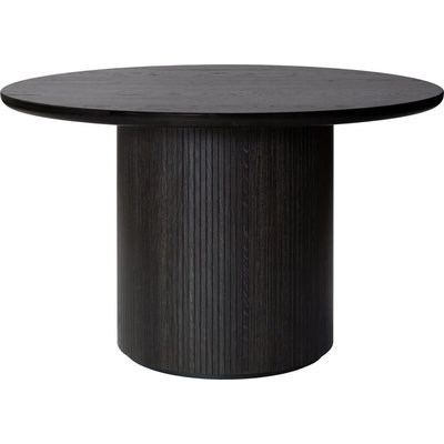 GUBI MOON DINING TABLE Ø 120 CM. DARK STAINED