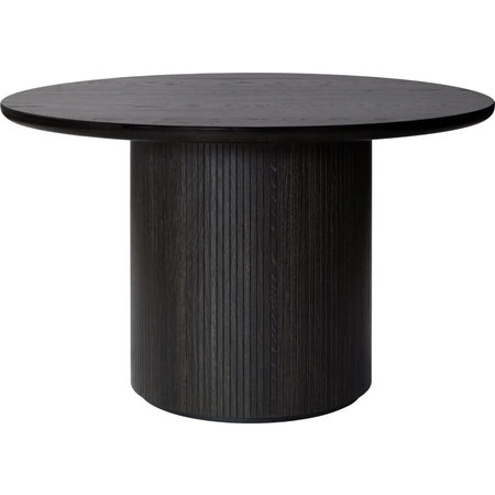 GUBI FAST TRACK - MOON DINING TABLE Ø 120 CM. DARK STAINED
