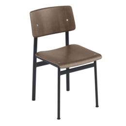 MUUTO LOFT CHAIR BLACK/STAINED DARK BROWN
