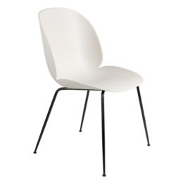 GUBI Beetle chair alabaster white - base black