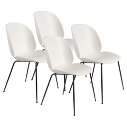 GUBI BEETLE CHAIR SET OF 4 - ALABASTER WHITE -  CONIC BASE