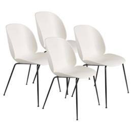 GUBI Beetle stoel alabaster wit - set van 4
