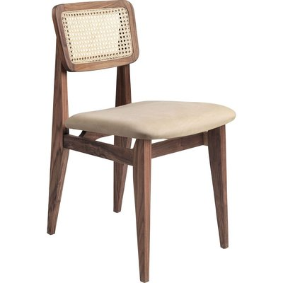 GUBI C-CHAIR FRENCH CANE / LEATER SEAT