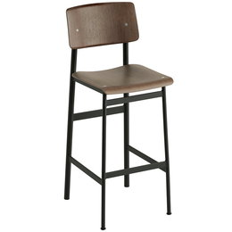 MUUTO LOFT BAR STOOL DARK BROWN 75 CM