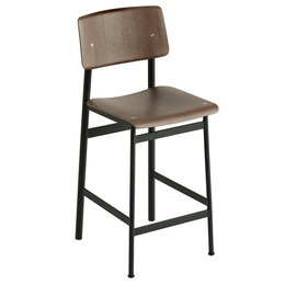 MUUTO LOFT COUNTER BAR STOOL DARK BROWN 65 CM