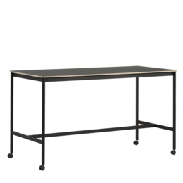 MUUTO BASE HIGH TABLE  W. CASTORS - 105 HEIGHT