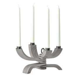 DESIGN HOUSE STOCKHOLM NORDIC LIGHT CANDLE HOLDER - 4 ARM  GREY