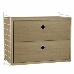 STRING WALL BEDROOM CABINET WOOD - COMBO SMALL