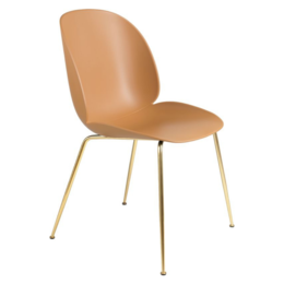 GUBI BEETLE CHAIR CONIC BRASS BASE
