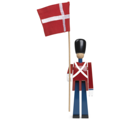 KAY BOJESEN STANDARD BEARER SMALL WITH TEXTILE FLAG