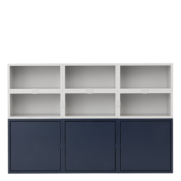 MUUTO STACKED 2.0 CABINET 9 - L.GREY & MID.BLUE