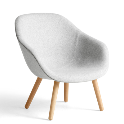 HAY AAL 82 LOUNGE CHAIR ROUND WOOD BASE