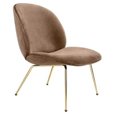 GUBI BEETLE LOUNGE CHAIR - CONIC BRASS BASE