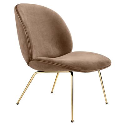 GUBI Beetle lounge chair uph - brass conic base