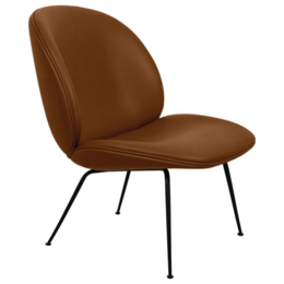 GUBI Beetle lounge stoel gestoffeerd - voet zwart