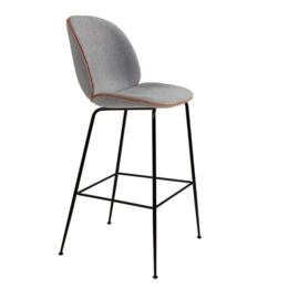 GUBI BEETLE BAR CHAIR  UPHOLSTERED, CONIC BASE