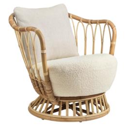 GUBI Grace lounge stoel rattan
