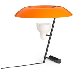 ASTEP MODEL 548  TABLE LAMP DARK BRASS - ORANGE