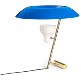 ASTEP MODEL 548  TABLE LAMP BRASS - AZURE
