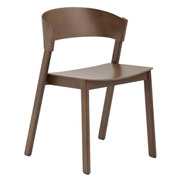 MUUTO COVER SIDE CHAIR  - DARK STAINED BROWN
