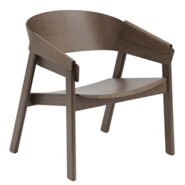 MUUTO COVER LOUNGE CHAIR - DARK STAINED BROWN