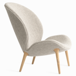 VIPP 466 LODGE LOUNGE CHAIR  OAK UPHOLSTERED