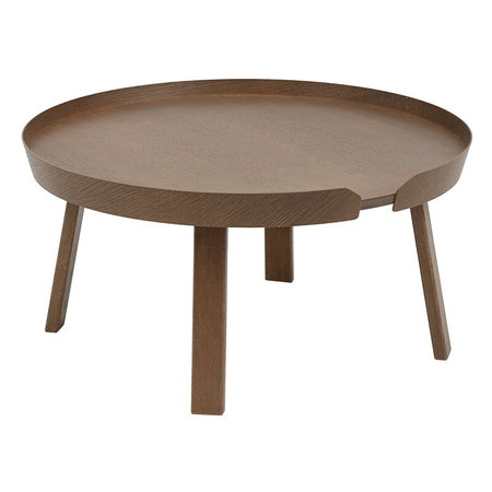 MUUTO AROUND COFFEE TABLE LARGE - STAINED DARK BROWN