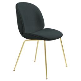 GUBI Beetle chair boucle 028 dark green - base conic