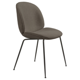 GUBI Beetle chair boucle 004 brown - base conic