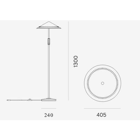 LYFA GOVERNOR FLOOR LAMP BRASS
