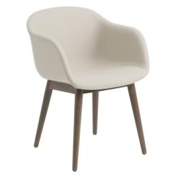 MUUTO Fiber armchair uph. - wood base