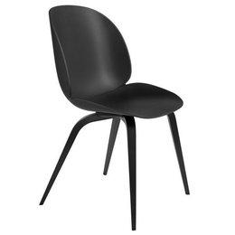 GUBI Beetle Chair black - base black beech