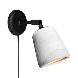 NEW WORKS MATERIAL WANDLAMP - WIT MARMER